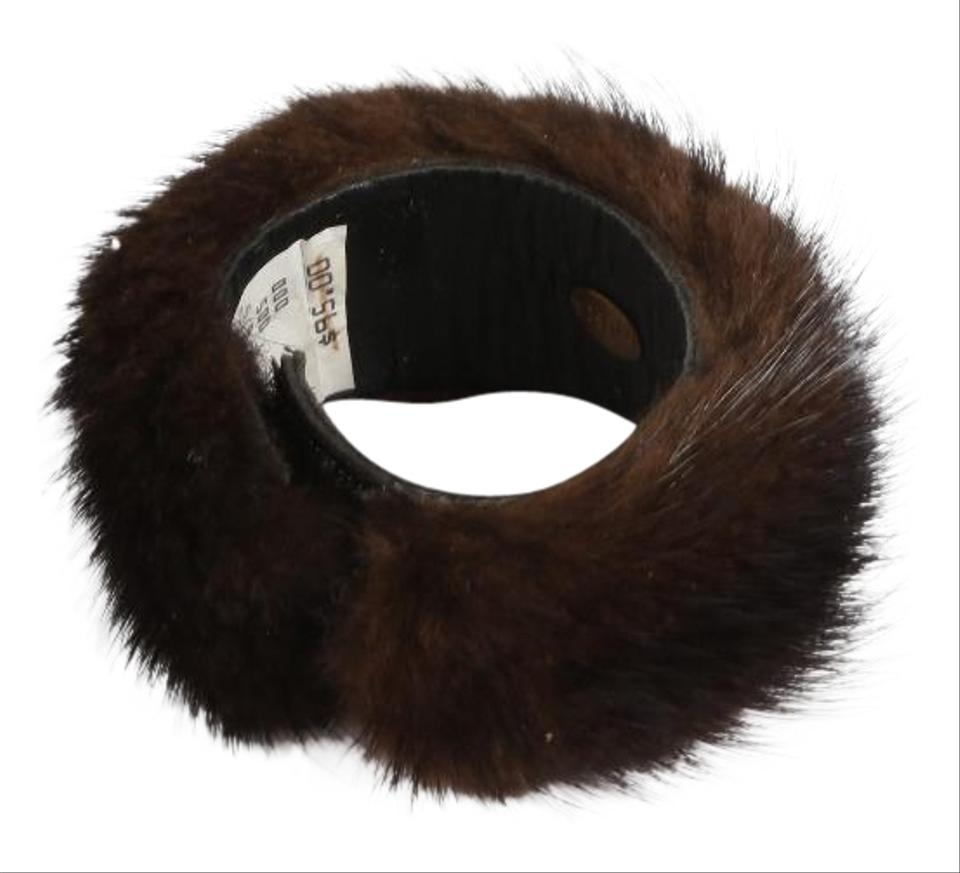 Yosca Mink Fur Bangle Cuff Bracelet