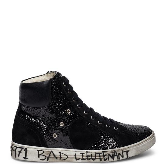 Saint Laurent Glitter Sneakers (sold out everywhere) black leather and black glitter Athletic Image 4
