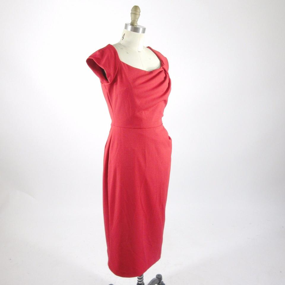 Red - Pin Up Girl Wiggle Stretch New Mid-length Cocktail Dress Size ...