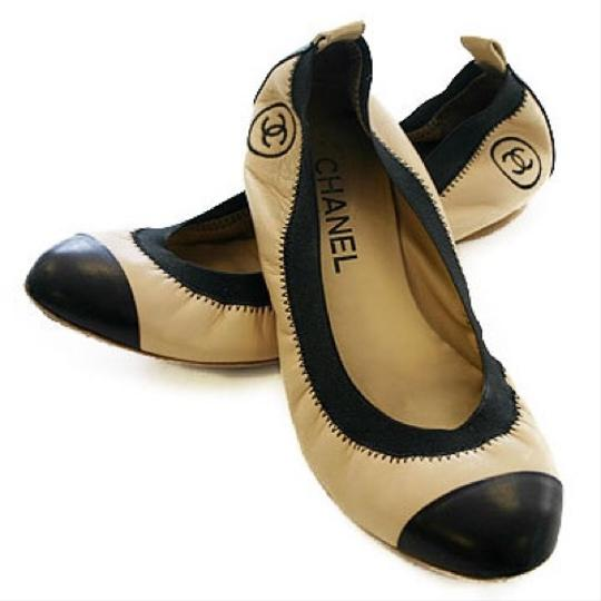 Chanel Leather Ballet Spirit tan and black Flats Image 0