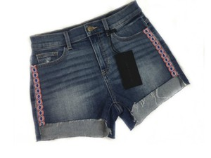 SP Black Label Boho Jeans Denim Fray Cut Off Shorts Blue