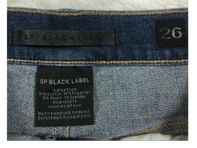SP Black Label Boho Jeans Denim Fray Cut Off Shorts Blue Image 1