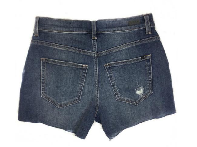 SP Black Label Boho Jeans Denim Fray Cut Off Shorts Blue Image 2
