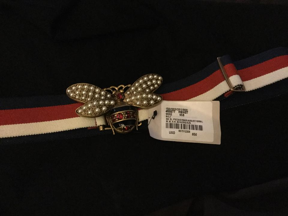 374fc5d1e58 Gucci Gucci Sylvia Web belt with bee Image 11. 123456789101112