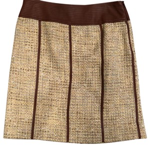 Etcetera Skirt light yellow w/ light tan trim