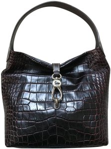 Dooney & Bourke Leather Croco Shoulder Bag