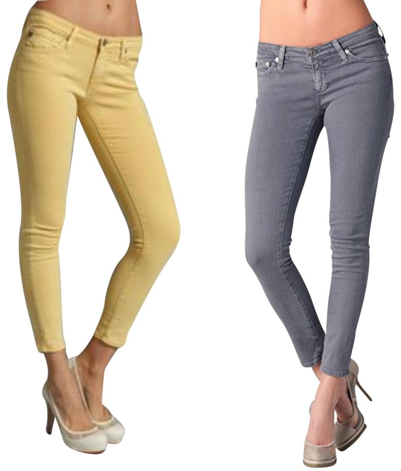 2d0215e86df48c AG Adriano Goldschmied Yellow/Grey 2 Pair Legging Ankle Skinny Jeans ...