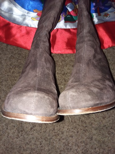 UGG Suede Leather Euc Dark Brown Boots Image 1