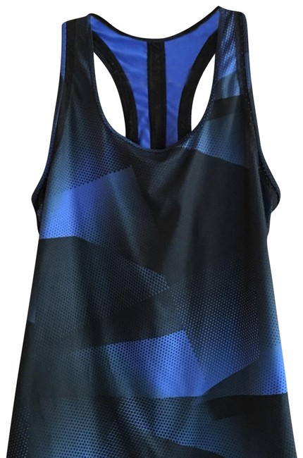 Gap Black and Blue Racerback Activewear Top Size 8 (M) Gap Black and Blue Racerback Activewear Top Size 8 (M) Image 1