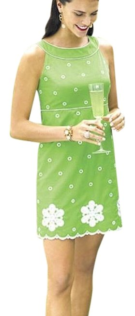 Lilly Pulitzer Kelly Green Jacqueline Lace Shift Short Casual Dress Size 8 (M) Lilly Pulitzer Kelly Green Jacqueline Lace Shift Short Casual Dress Size 8 (M) Image 1