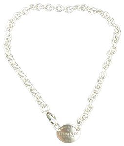 Tiffany & Co. 15.25 inches!! STUNNING PLEASE RETURN TO TIFFANY OVAL TAG NECKLACE