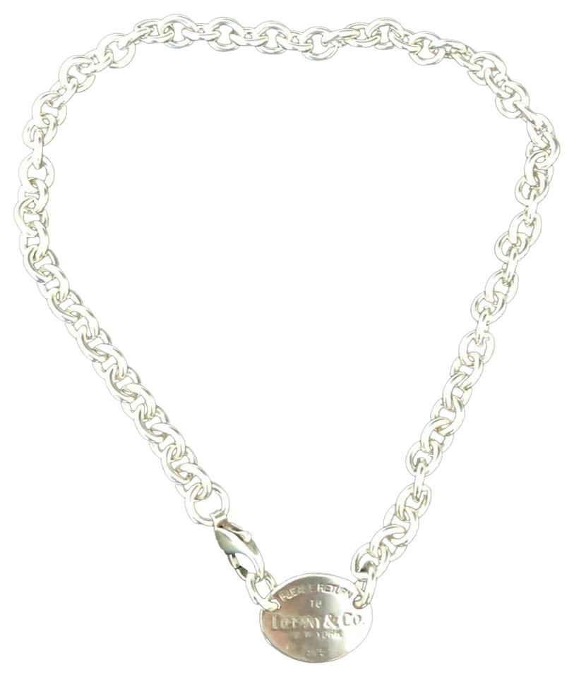 1a61599ba9cfe Tiffany & Co. 15.25 inches!! STUNNING PLEASE RETURN TO TIFFANY OVAL TAG  NECKLACE ...