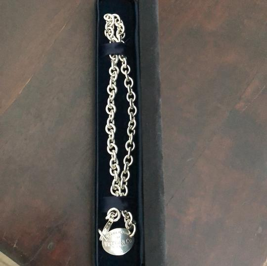 Tiffany & Co. 15.25 inches!! STUNNING PLEASE RETURN TO TIFFANY OVAL TAG NECKLACE Image 4