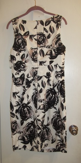 New Directions short dress black white grey Bold Floral & Office on Tradesy Image 2