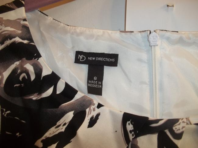 New Directions short dress black white grey Bold Floral & Office on Tradesy Image 3