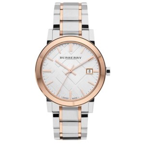 Burberry Burberry rose gold and silver watch