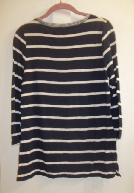 Vineyard Vines Longsleeve Striped Light Casual Stretchy T Shirt royal blue white Image 3