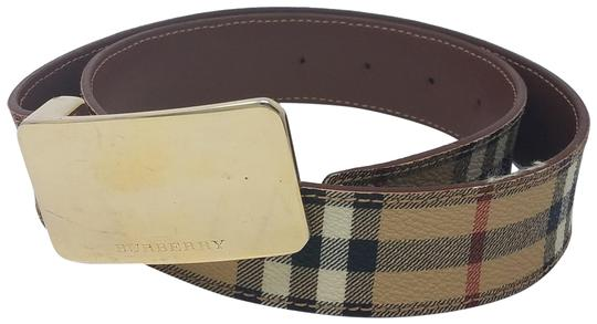 Burberry Tan, red multicolor Burberry Nova Check monogram belt Image 0