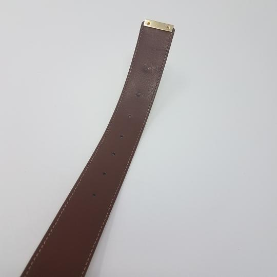 Burberry Tan, red multicolor Burberry Nova Check monogram belt Image 10