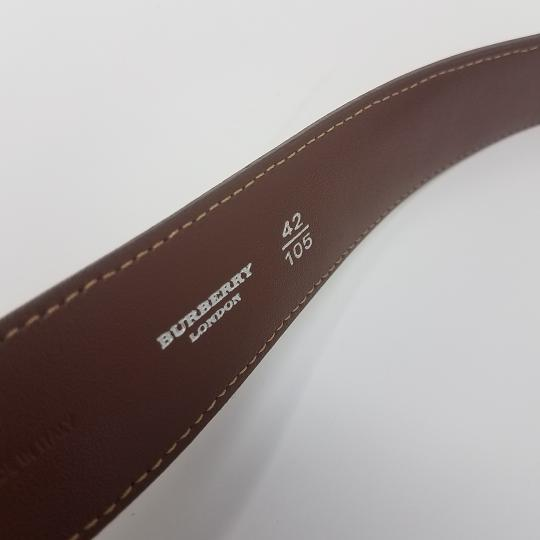 Burberry Tan, red multicolor Burberry Nova Check monogram belt Image 11