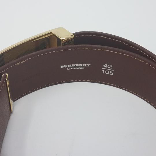 Burberry Tan, red multicolor Burberry Nova Check monogram belt Image 4