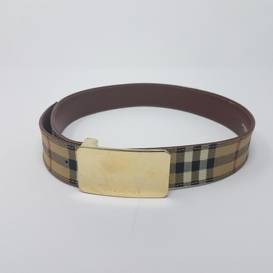 Burberry Tan, red multicolor Burberry Nova Check monogram belt Image 6