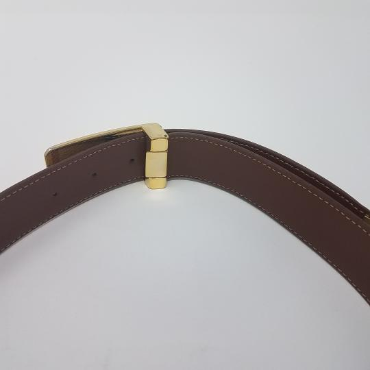 Burberry Tan, red multicolor Burberry Nova Check monogram belt Image 9