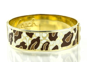 Coach Coach Enamel Gold Tone Bangle Bracelet