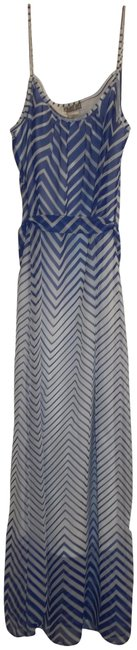 Item - Blue White Rn#109881 Long Casual Maxi Dress Size 4 (S)