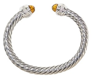 David Yurman DAVID YURMAN CLASSIC CABLE CITRINE and DIAMONDS 7 mm BRACELET