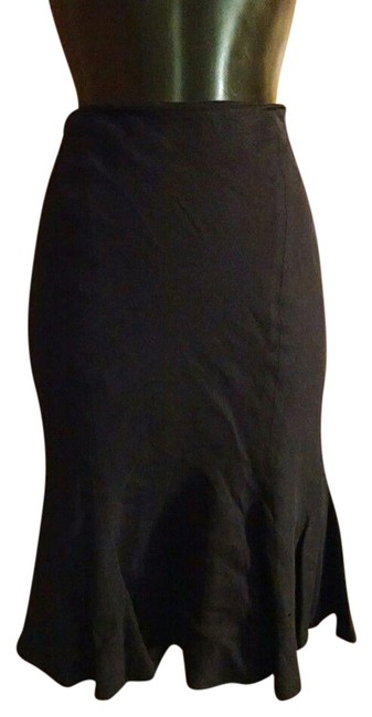 Alexander McQueen Pencil Flounce Fitted Skirt Black Image 0