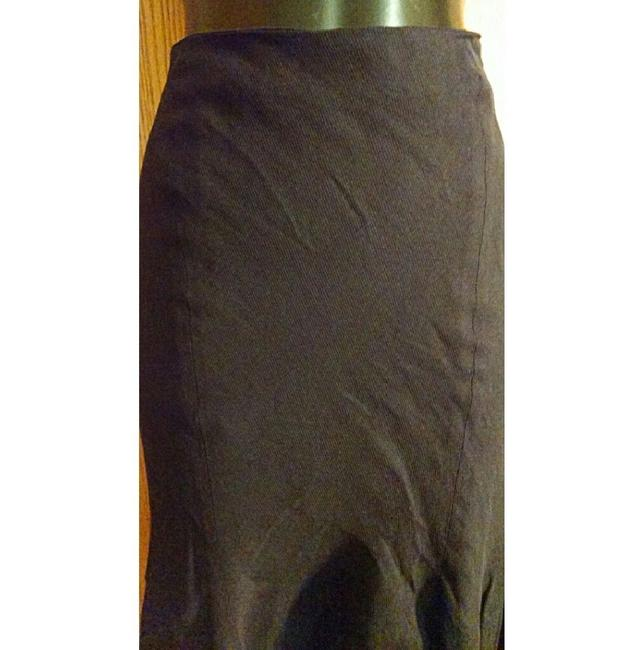 Alexander McQueen Pencil Flounce Fitted Skirt Black Image 1