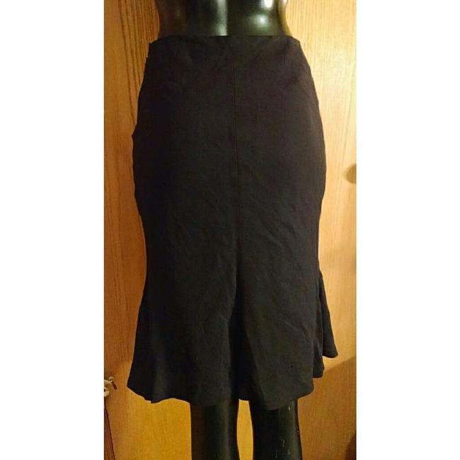 Alexander McQueen Pencil Flounce Fitted Skirt Black Image 2