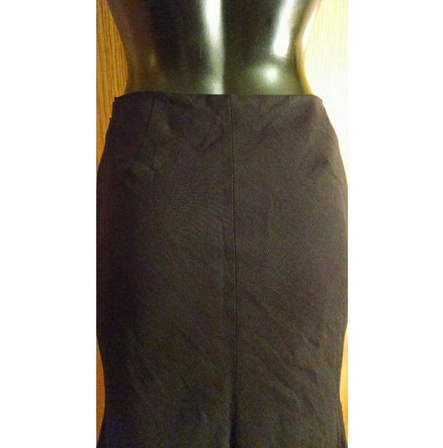Alexander McQueen Pencil Flounce Fitted Skirt Black Image 3