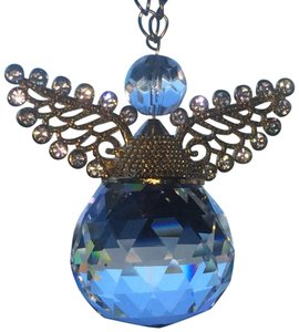 Swarovski SWOROVSKI CRYSTAL ANGEL WITH GOLD-PLATED WINGS ORNAMENT/HANGBAG CHARM!