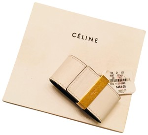 Céline CÉLINE Authentic Leather Wrap Cuff Aged Gold NWT
