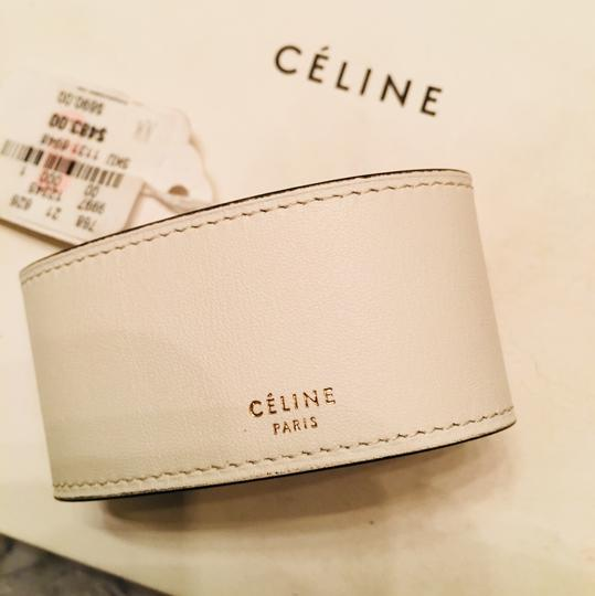 Céline CLINE Authentic Leather Wrap Cuff Aged Gold NWT Image 4