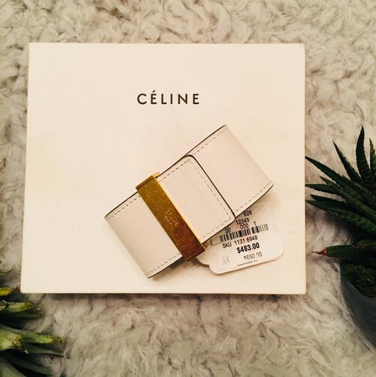 Céline CLINE Authentic Leather Wrap Cuff Aged Gold NWT Image 5