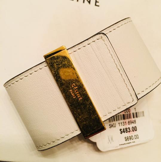Céline CLINE Authentic Leather Wrap Cuff Aged Gold NWT Image 6