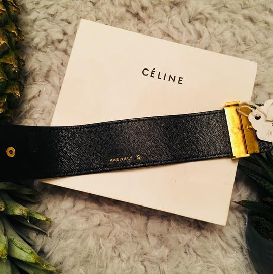 Céline CLINE Authentic Leather Wrap Cuff Aged Gold NWT Image 7