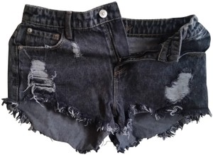 dELiA*s High Waisted High-wasted Distressed Denim Shorts-Distressed