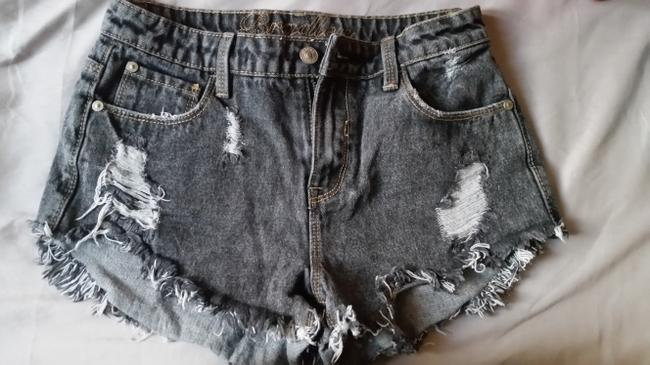 dELiA*s High Waisted High-wasted Distressed Denim Shorts-Distressed Image 1