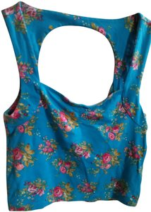 Forever 21 Top multi-color, floral, green