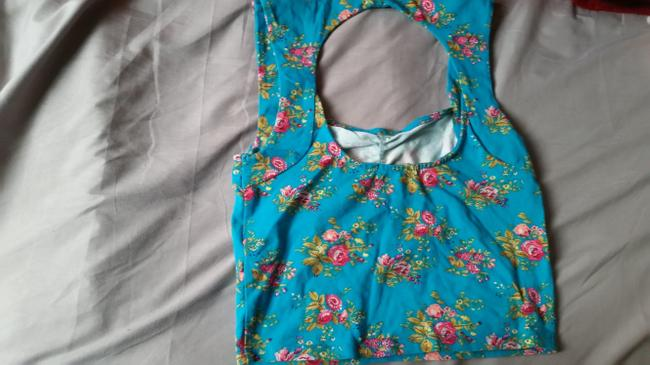 Forever 21 Top multi-color, floral, green Image 1