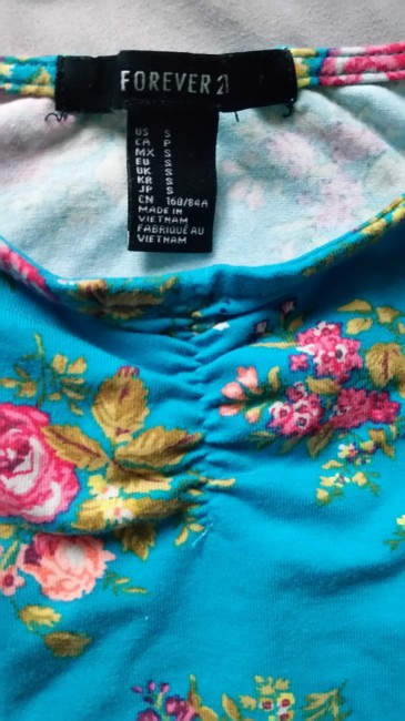 Forever 21 Top multi-color, floral, green Image 2