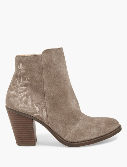 Lucky Brand Suede Leather Ankle Embroidered Tan Boots