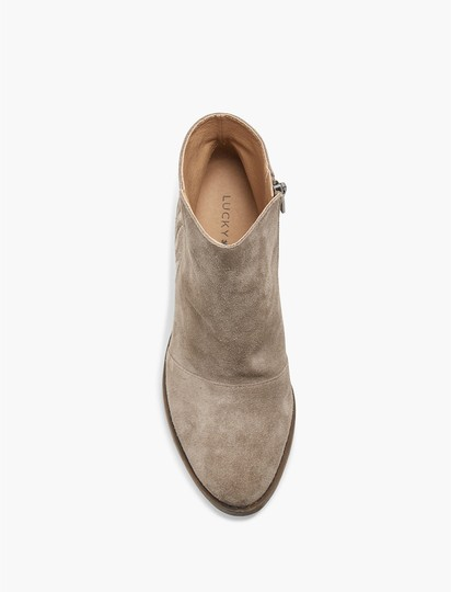 Lucky Brand Suede Leather Ankle Tan Boots