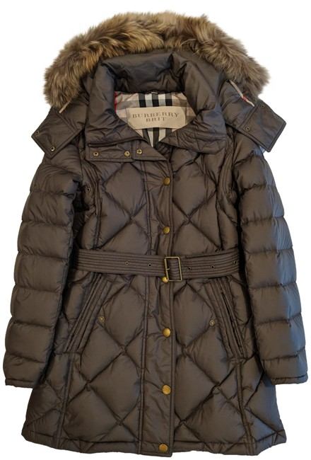 Item - Grey Puffer with Removable Trim Coat Size 8 (M)
