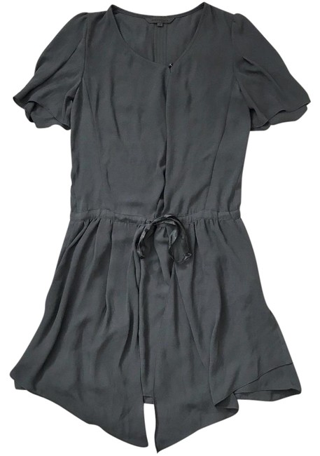Preload https://img-static.tradesy.com/item/22675850/eryn-brinie-grayish-green-draped-tie-short-casual-dress-size-4-s-0-1-650-650.jpg