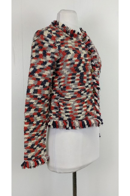 Marc by Marc Jacobs White Navy Red Multi Jacket